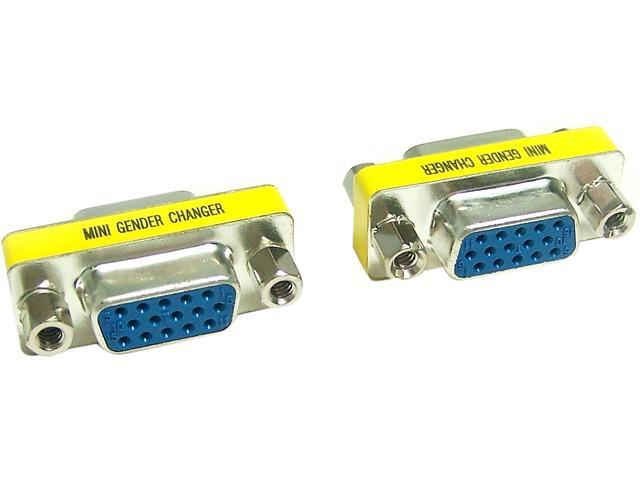 Micro Connectors G05-302SL Gender Changer VGA HD15 Female to Female