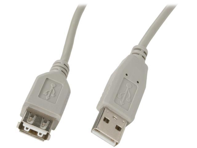 Kaybles USB-MF-6 6 ft. USB 2.0 A/male to A/female Cable in Beige Color  - OEM