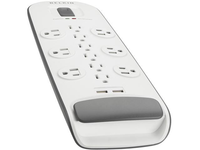 BELKIN BV112050-06 6' 12 Outlets 3996 Joules Surge Protector with USB Charging