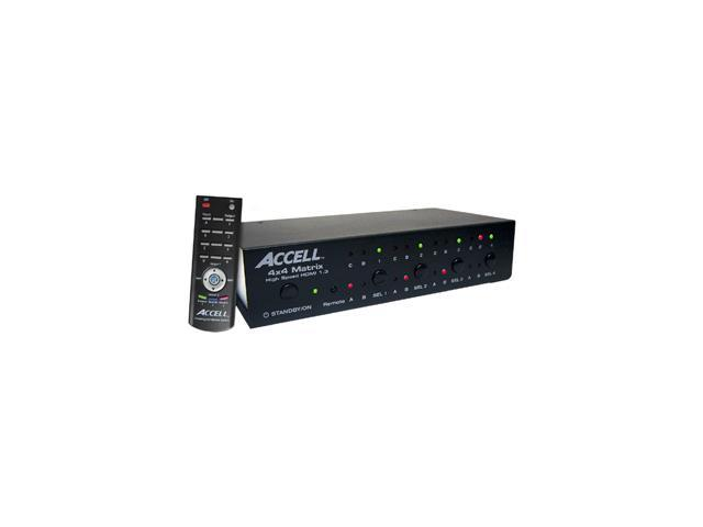 Accell K072C-008B 4x4 HDMI 1.3 Audio/Video Matrix Switch