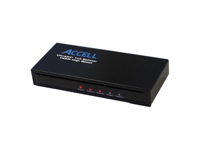 Accell K078C-004B Mini 1x4 HDMI 1.3 Audio/Video Splitter
