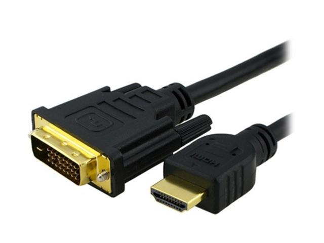 Insten 675759 10 ft. Black HDMI Male to DVI Male HDMI to DVI Cable Male to Male