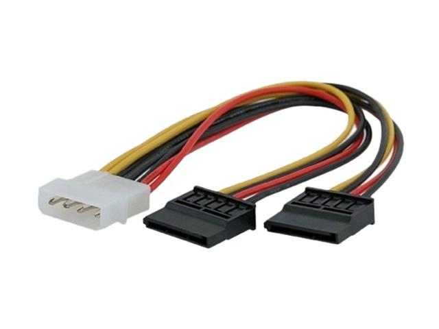 Insten 675482 2X 4 pin Molex connecter to 2 Serial ATA Power Splitter Cable