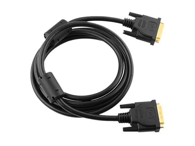 Insten 675415 Black 6 ft. Male to Male Gold-plated DVI-D Digital / Digital Dual Link Cable 9.9Gbps 24+1 pin