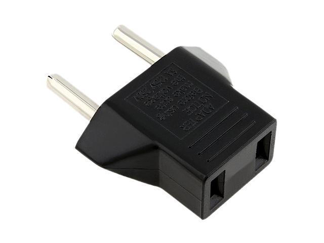 Insten 675569 1X Travel Charger US to EU Plug Adapter, Black