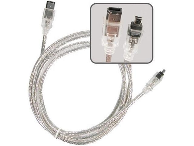 Insten 1044528 6 ft. 2X IEEE 1394 Firewire Cable 6 pin - 4 pin M / M