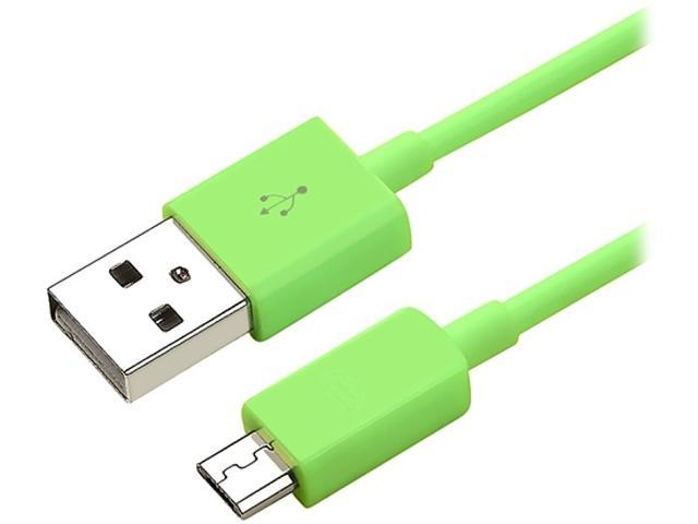 Insten 1132011 Green 1X Micro USB 2- in-1 Cable compatible with HTC One M7