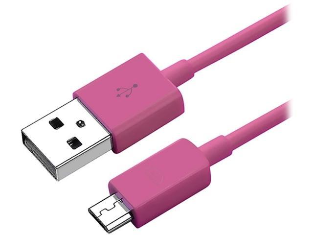 Insten 1132014 Pink 1X Micro USB 2- in-1 Cable compatible with HTC One M7