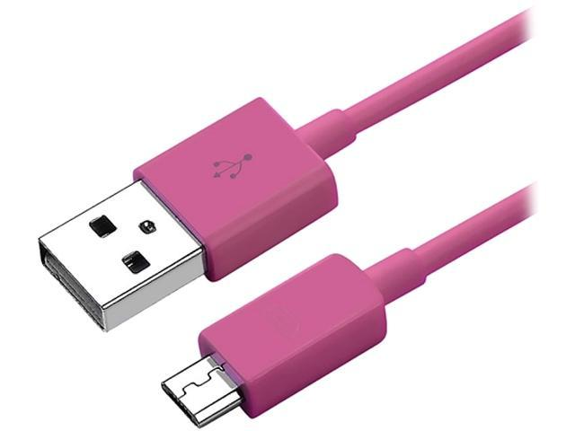 Insten 1131832 Pink 1X Micro USB 2- in-1 Cable Compatible with Blackberry Z10