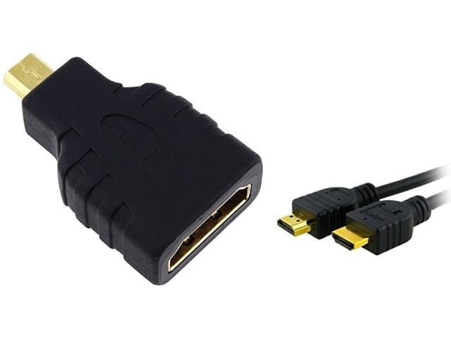 Insten 314266 3 ft. HDMI Type A to Type D F/M Adapter w/ High Speed HDMI Cable