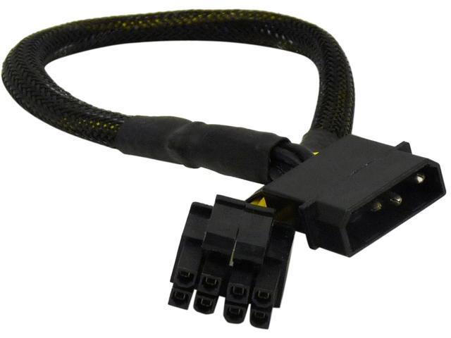 "1ST PC CORP. CB-4M-8F 12"" 8-pin/P4+P4-pin EPS female converted from molex 4-pin male Cable"