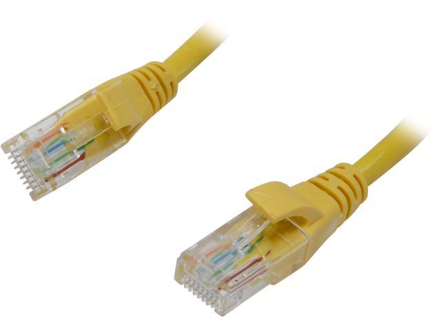 VCOM VC511-5YL 5 ft. Cat 5E Yellow Molded Patch Cable