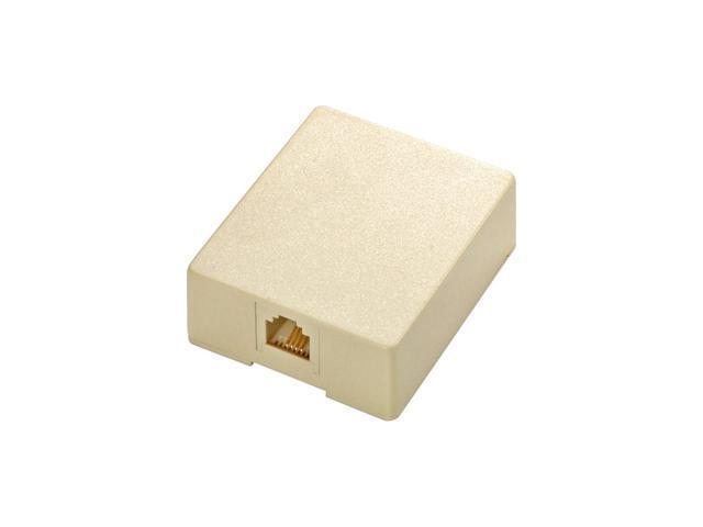 Steren 301-145IV 4-Conductor UL Surface Modular Telephone Jack