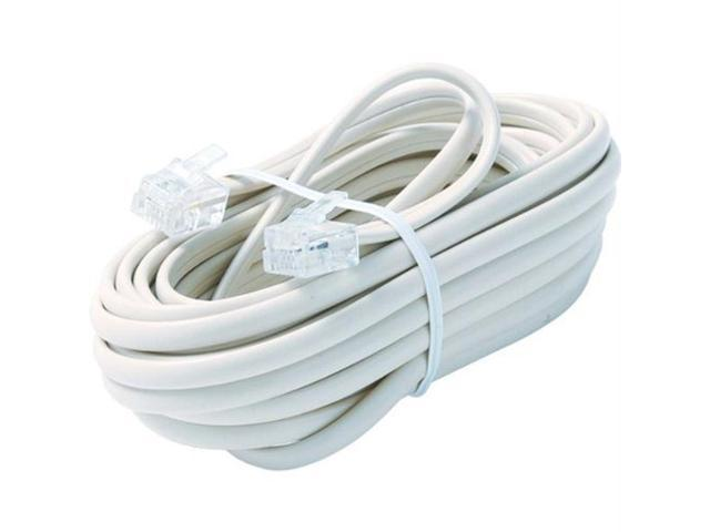 STEREN Model BL-324-015WH 15 ft. Telephone Line Cable