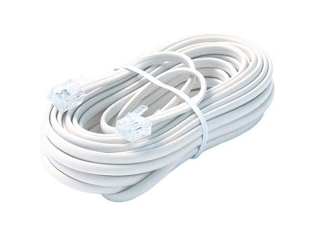STEREN Model BL-324-050WH 50 ft. Premium Telephone Line Cable