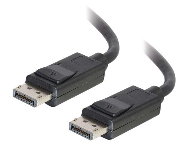 C2G 25ft DisplayPort Cable with Latches M/M - Black