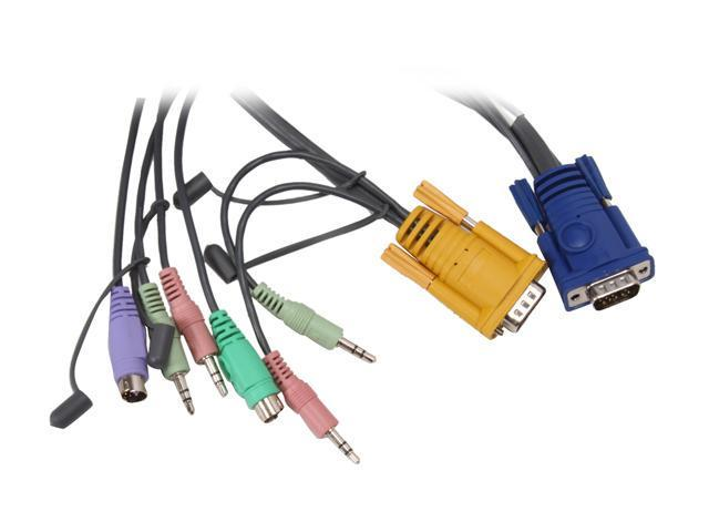 ATEN 6 ft. PS/2 KVM Cable with Audio 2L5302P