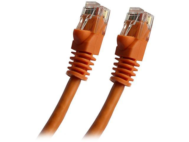 Professional Cable CAT6OR-25 25 ft. Cat 6 Orange Gigabit Ethernet UTP Cable with boots
