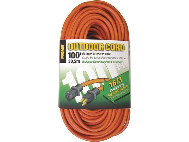 Prime Wire Model EC501635 100 ft. 16/3 SJTW Medium Duty Extension Cord