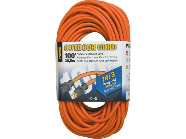 Prime Wire Model EC501735 100 ft. 14/3 SJTW Heavy Duty Outdoor Extension Cord