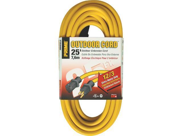 Prime Wire Model EC500825 25 ft. 12/3 SJTW Jobsite Outdoor Extension Cord