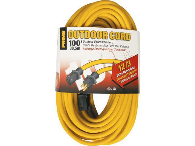 Prime Wire Model EC500835 100 ft. 12/3 SJTW Jobsite Outdoor Extension Cord