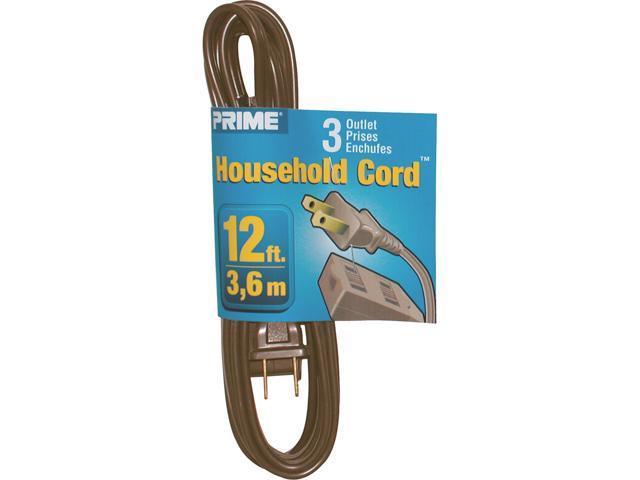 Prime Wire Model EC670612 12 ft. 16/2 SPT-2 3-Outlet Indoor Cord