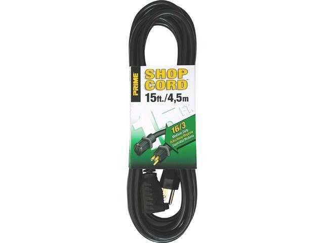 Prime Wire Model EC502615 15 ft. 16/3 SJTW Indoor and Outdoor Extension Cord