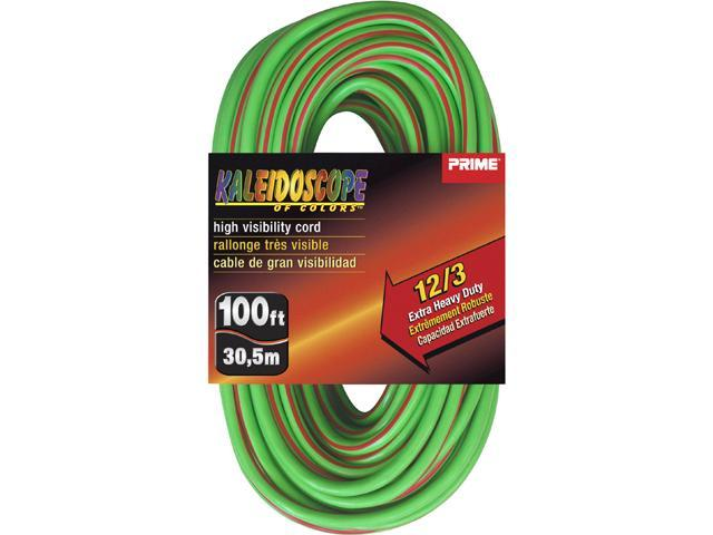 Prime Wire Model EC680509L 100 ft. Kaleidoscope Extra Heavy Duty Extension Cord