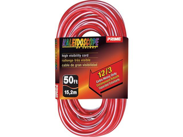 Prime Wire Model KC500328 50 ft. Kaleidoscope Extra Heavy Duty Extension Cord
