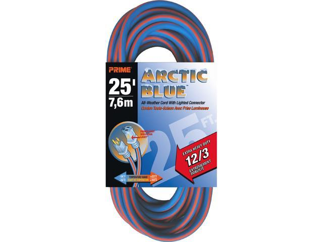 Prime Wire Model LT530825 25 ft. Extra Heavy Duty 25-Foot All-Weather TPE Extension Cord