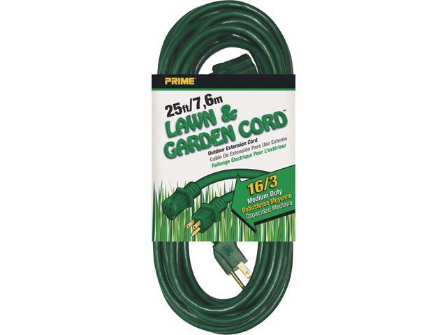 Prime Wire Model EC880625 25 ft. 16/3 SJTW Lawn and Garden Outdoor Extension Cord