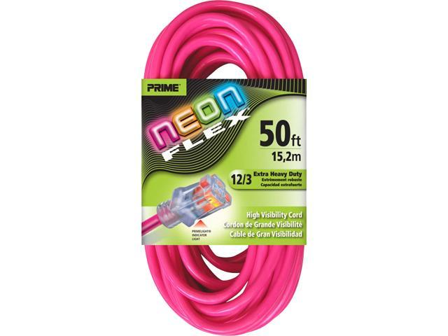 Prime Wire Model NS513830 50 ft. Neon Flex High Visibility Extension Cord
