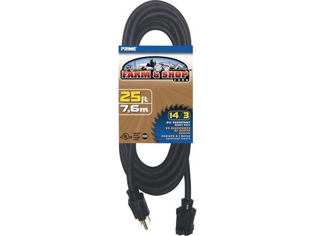Prime Wire Model EC532725 25 ft. 14/3 SJTOW Farm and Shop Extension Cord