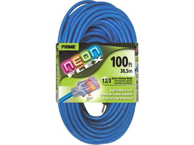 Prime Wire Model NS514835 100 ft. Neon Flex Extension Cord With Indicator Light