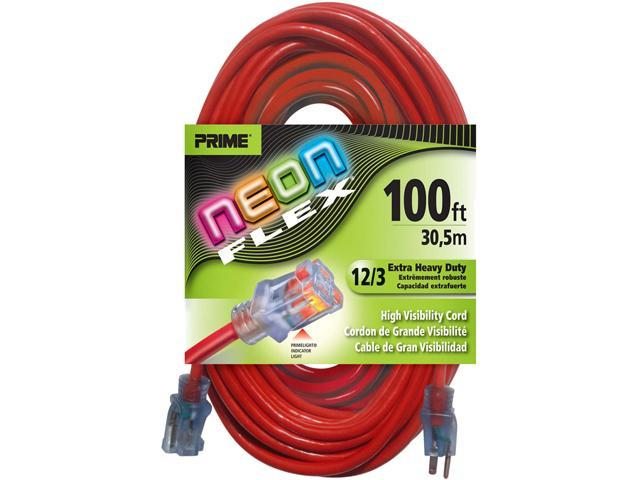 Prime Wire Model NS515835 100 ft. Neon Flex Extension Cord With Indicator Light