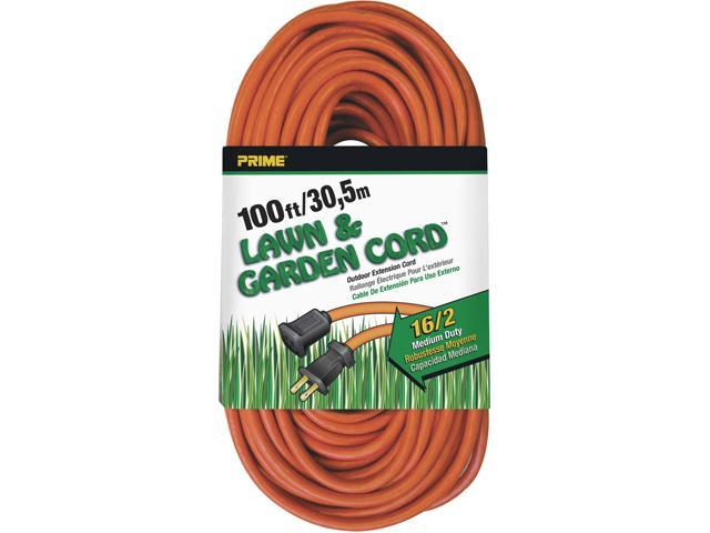 Prime Wire Model EC481635 100 ft. 16/2 SJTW Lawn and Garden Outdoor Extension Cord