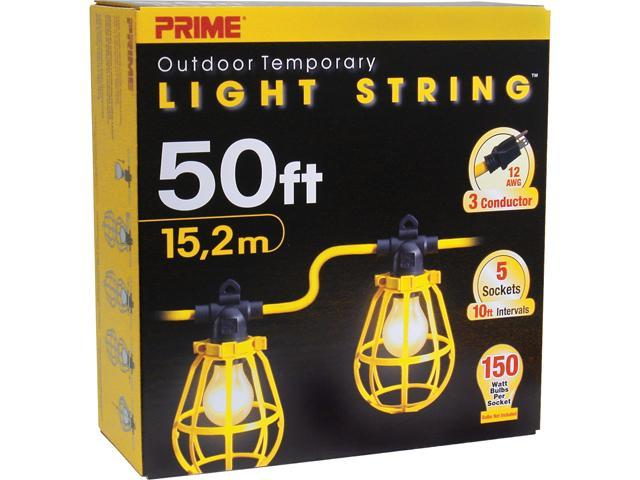 Prime Wire Model LSUG2830 50 ft. 5-Bulb 12/3 SJTW Outdoor Temporary Light String