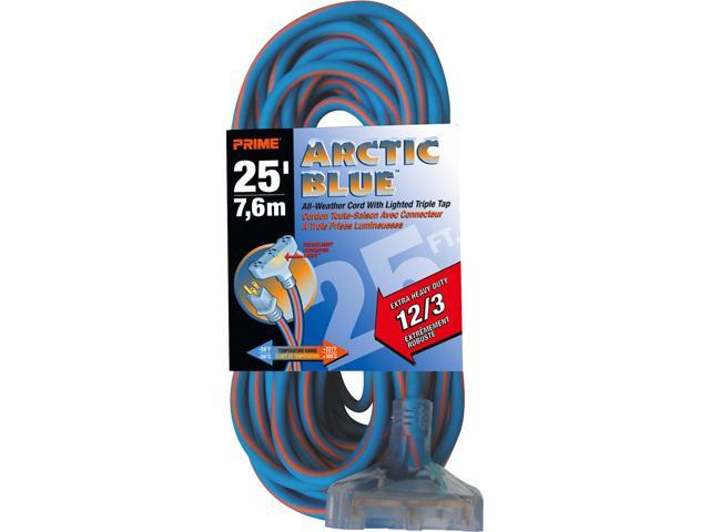 Prime Wire Model LT630825 25 ft. Ultra Heavy Duty Artic Blue All-Weather TPE Extension Cord