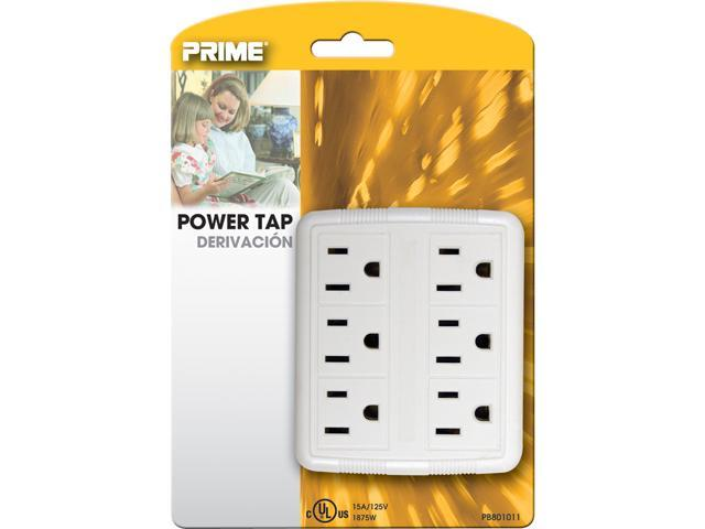 Prime Wire Model PB801011 6 Outlet Power Tap