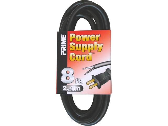 Prime Wire Model PS005608 8 ft. 16/2 SJT Replacement Power Supply Cord