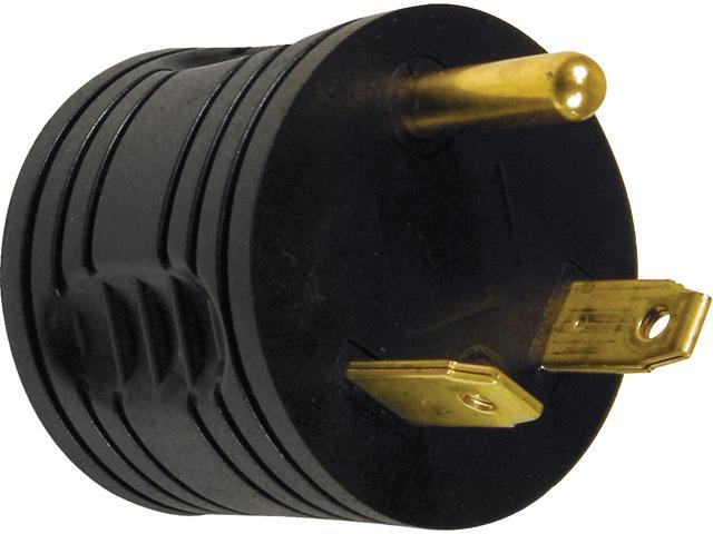 Prime Wire Model RVAD3015 Male to Female RV Adapter, NEMA TT-30 Male to 5-15 Female