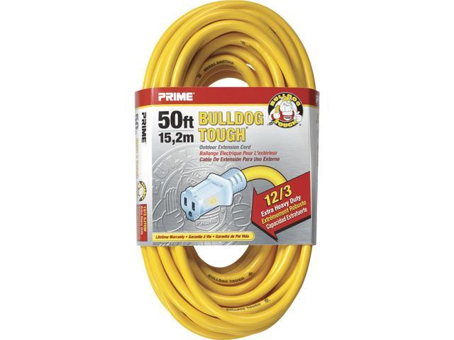 Prime Wire Model LT 511830 50 ft. 12/3 Sjtow Bulldog Lighted Outdoor Extension