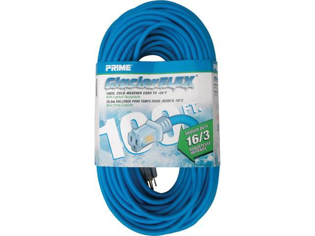 Prime Wire Model CW511635 Glacier Flex Cold Weather Extension Cord With Indicator Light
