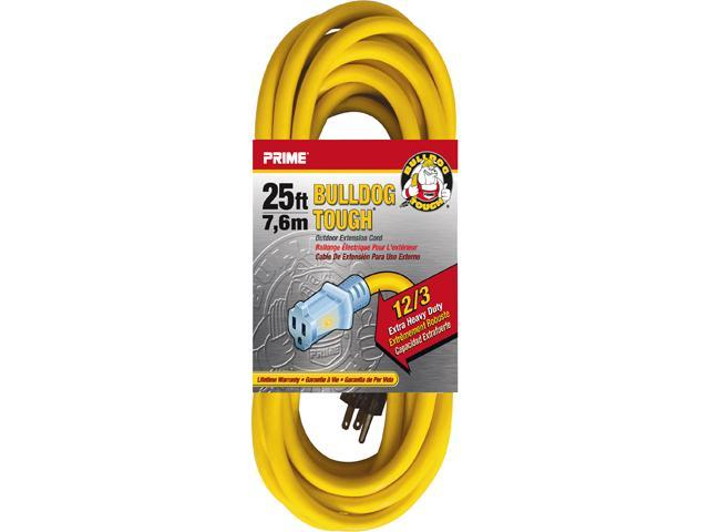 Prime Wire Model LT511825 25 ft. Bulldog Tough Extension Cord With Prime Light Indica