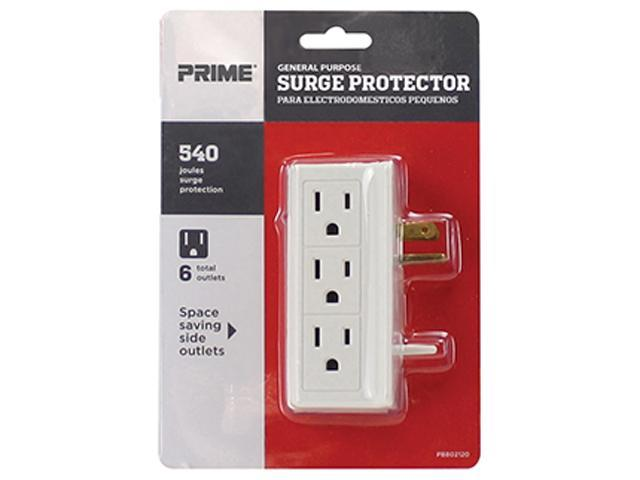 Prime Wire Model PB802120 6 Side-Outlet 540J Surge Tap