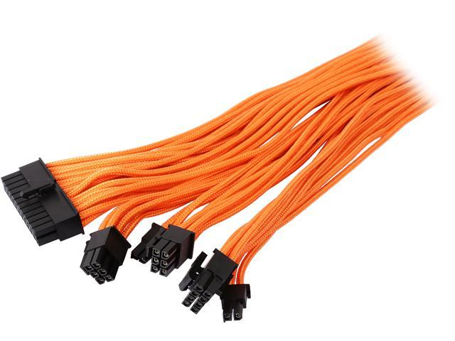 """Phanteks PH-CB-CMBO_OR 19.68"""" 24 Pin/ 8pin (4+4) M/B, 8pin (6+2) PCI-E Extension Cable Kit 500mm Length"""