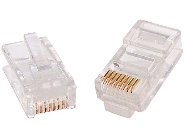 Micro Connectors C20-088L5-25 CAT5 RJ45 Modular Plug - 25 Pieces