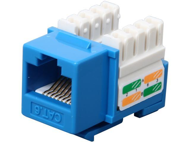 StarTech C6KEY110BL Cat 6 RJ45 Keystone Jack Blue - 110 Type