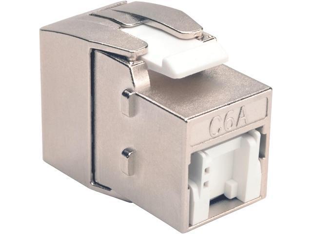 Tripp Lite Toolless Shielded Cat6a Keystone Jack - Gray